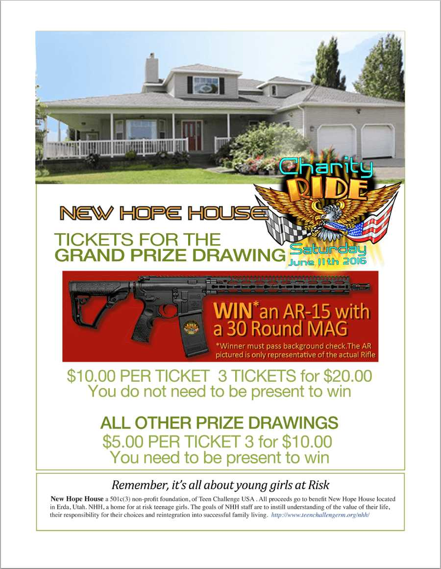 hope house ride prize